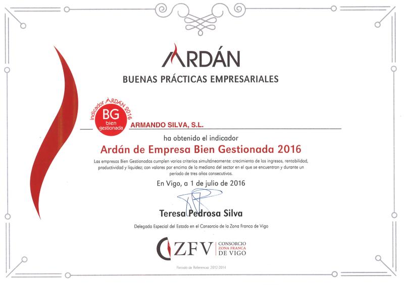Ardan Buenas Practicas Empresariales 2016