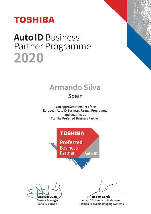 Armando Silva Auto-ID BPP certificate 2020 preferred partner